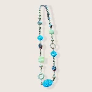 Premier Designs Necklace Canyon Turquoise Long